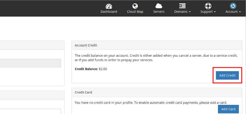 Add credit step 2