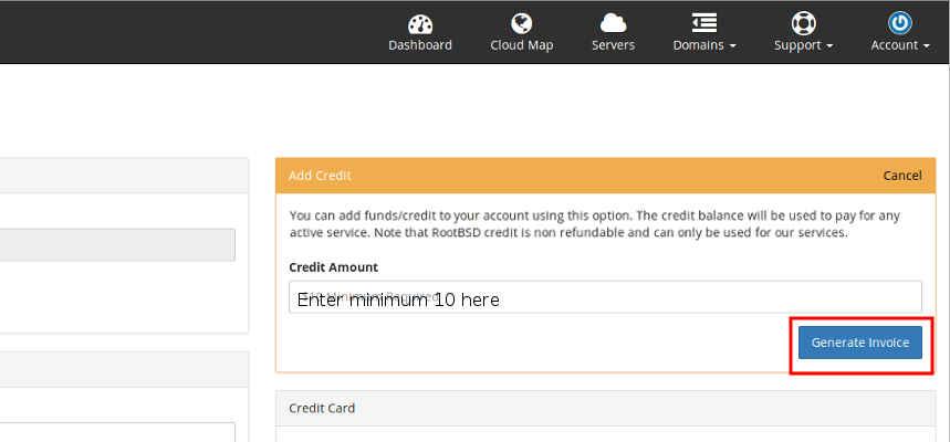 Add credit step 3